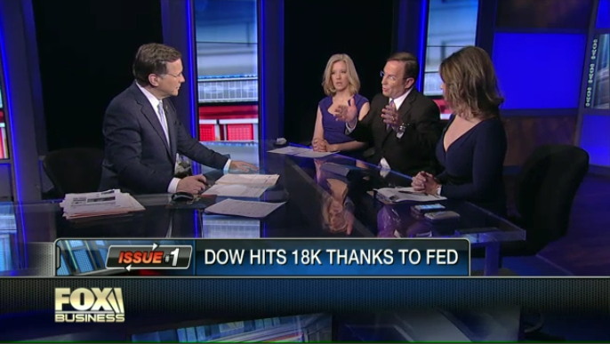 "Biz Blitz: Dow Hits 18k Thanks to Fed, Nighttime Gadget Warning, and ""The Interview"" Backtrack"